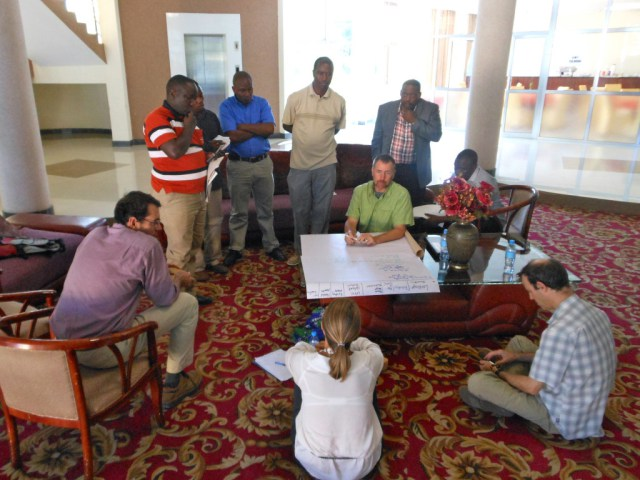 Participants prepare an action plan for scaling up impact within the Maasai Steppe.
